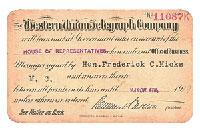 А вот такие карточки выпускал более 80 лет назад известный ныне повсеместно телеграф по переводу наличных денег Western Union. Имея такую карточку наличные деньги можно было не предъявлять